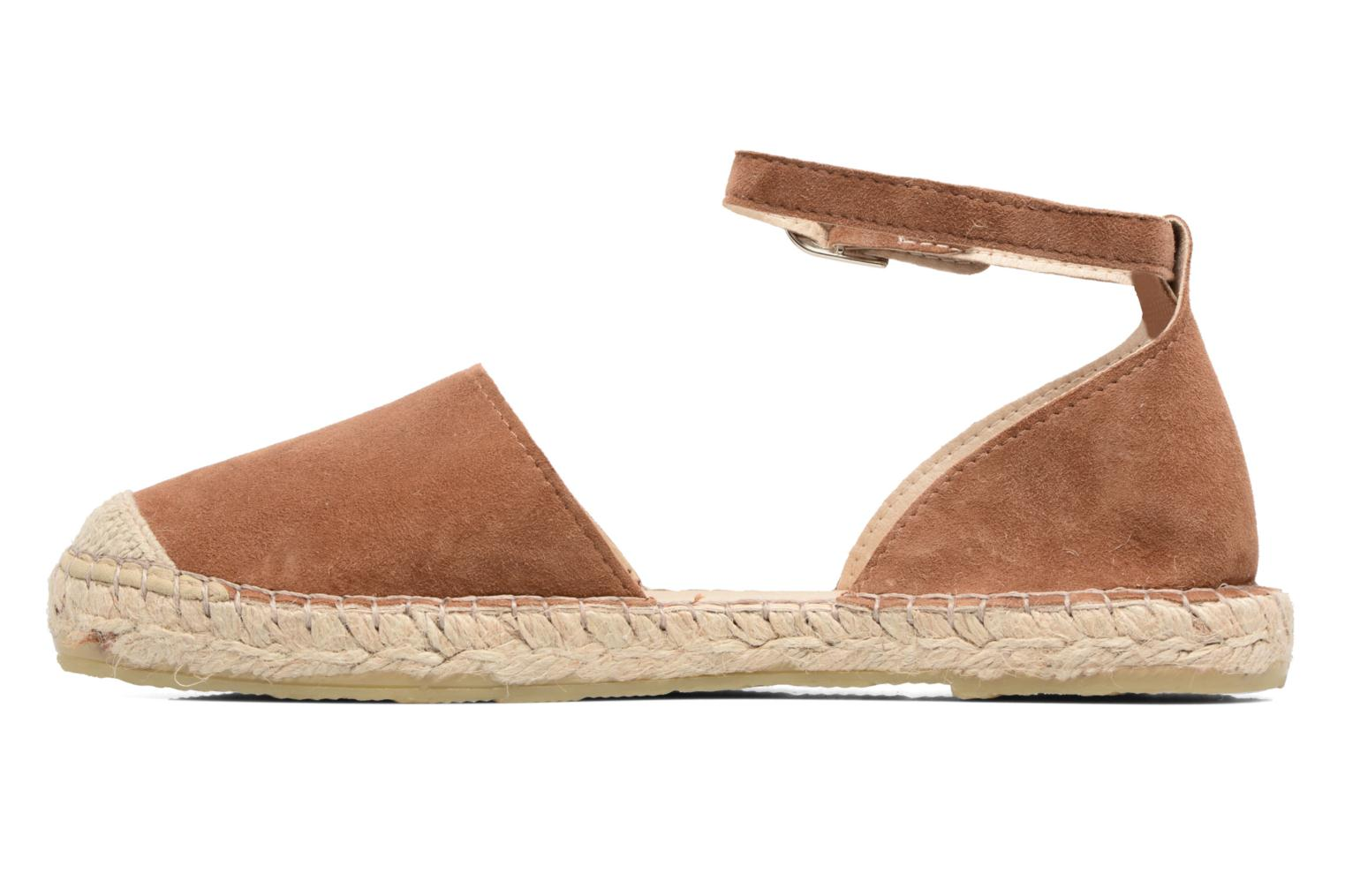 Espadrilles Georgia Rose Idalore Brown front view
