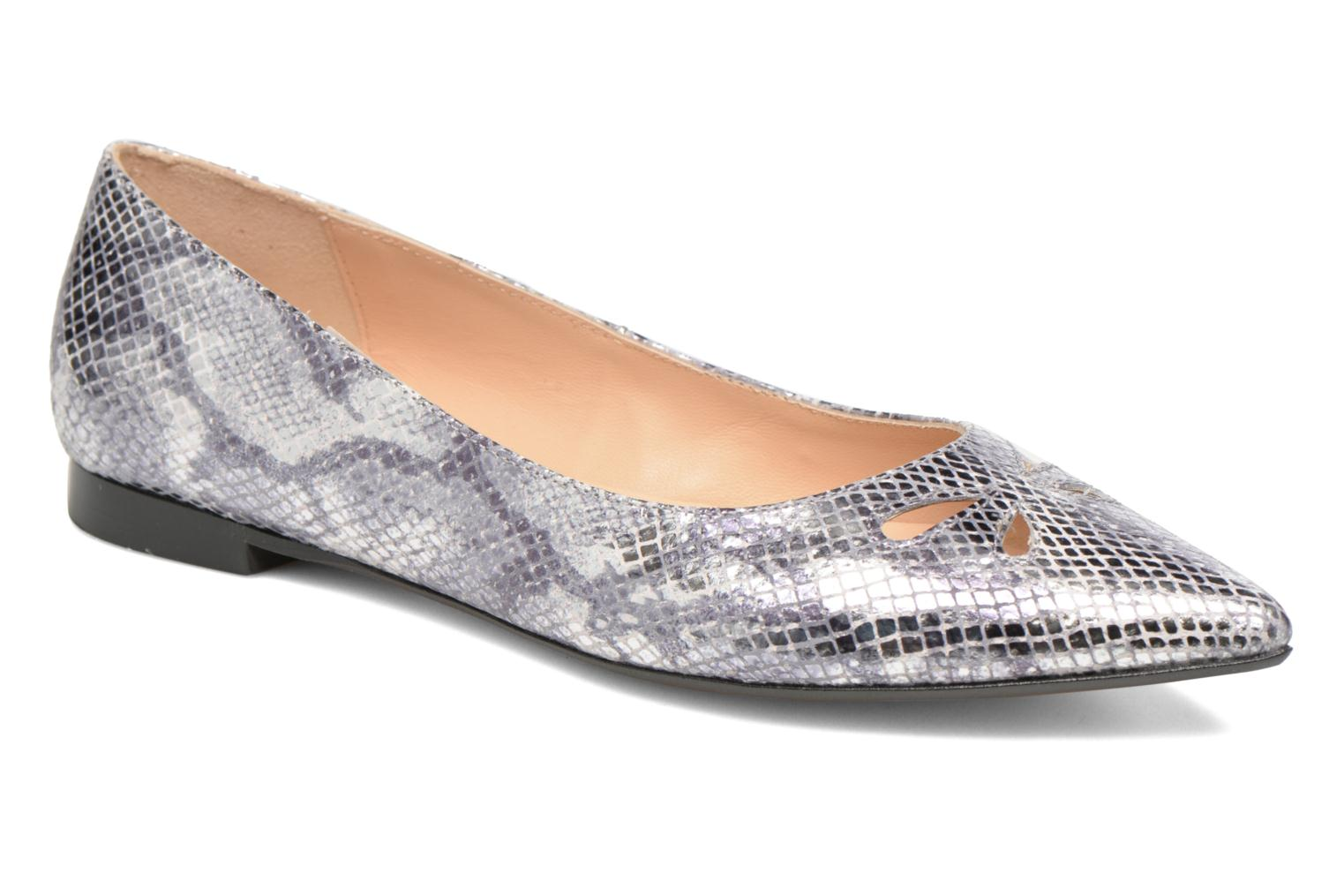 Ballet pumps Made by SARENZA Vegas Lipstick #5 Silver view from the right