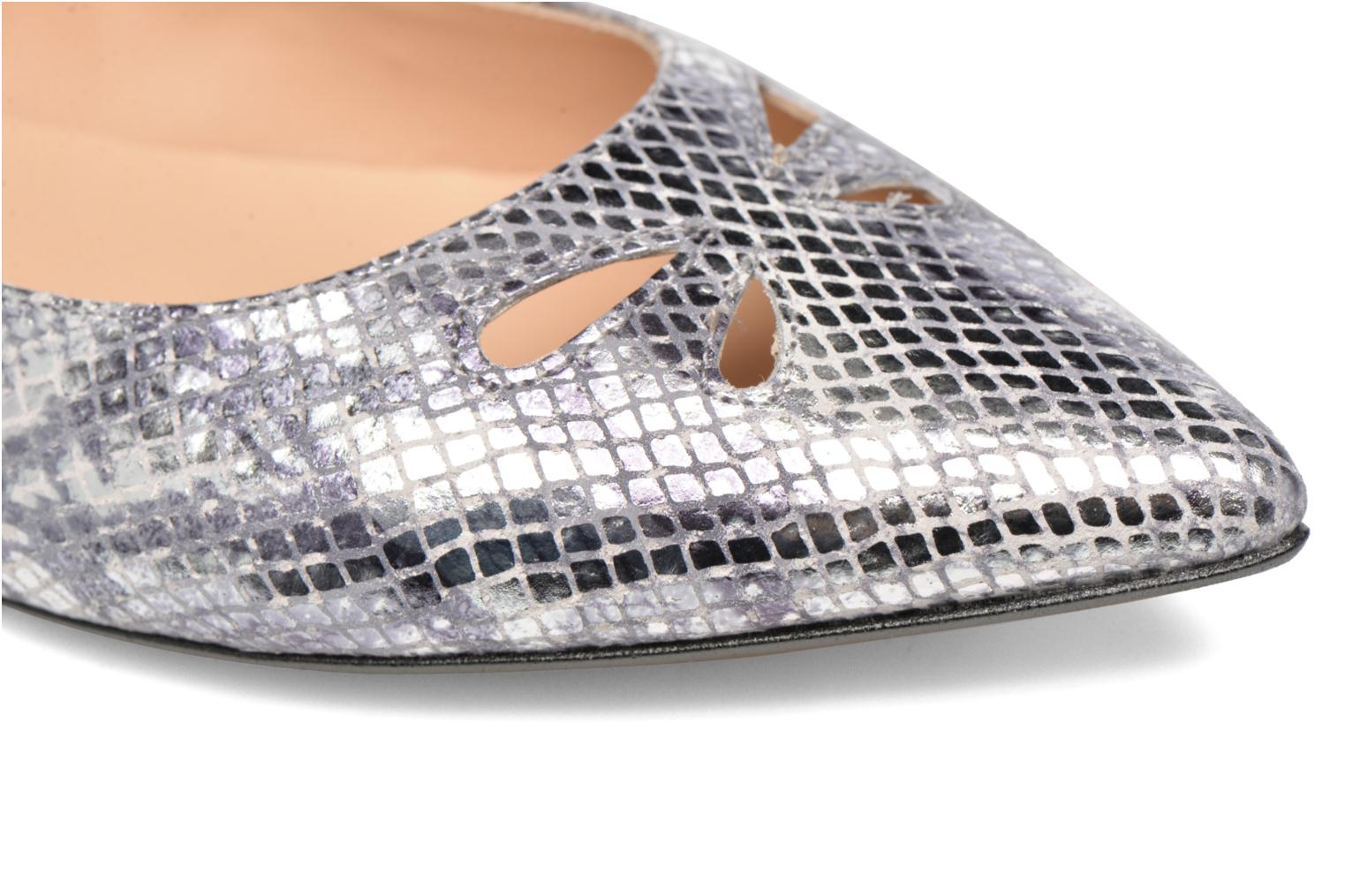 Ballet pumps Made by SARENZA Vegas Lipstick #5 Silver view from the left
