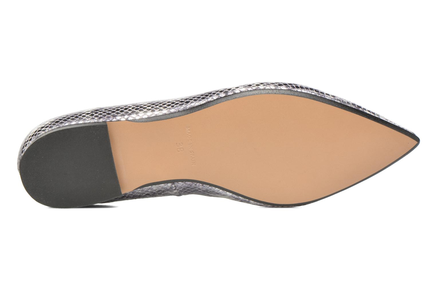 Ballet pumps Made by SARENZA Vegas Lipstick #5 Silver view from above