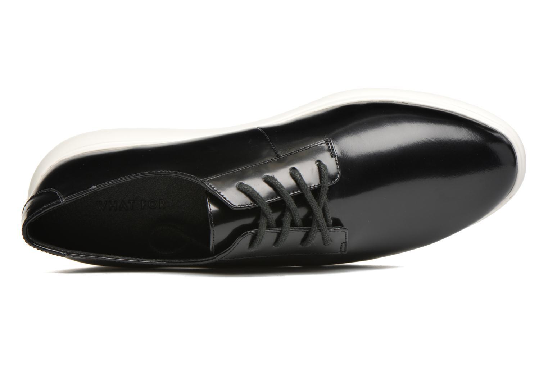 Chaussures à lacets What For Iris Noir vue gauche