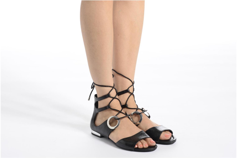 Sandales et nu-pieds What For Primrose Noir vue bas / vue portée sac