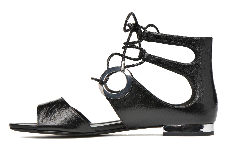 Sandales et nu-pieds What For Primrose Noir vue face