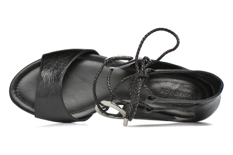 Sandales et nu-pieds What For Primrose Noir vue gauche