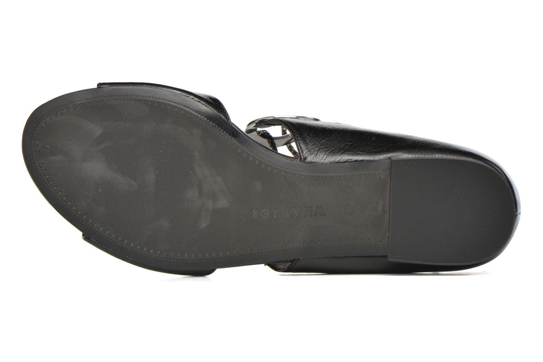 Sandales et nu-pieds What For Primrose Noir vue haut