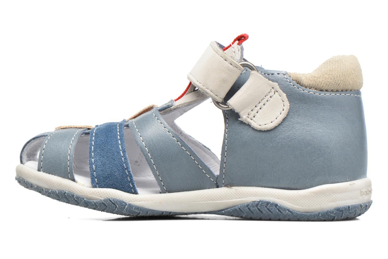 Sandales et nu-pieds Babybotte Typo3 Bleu vue face