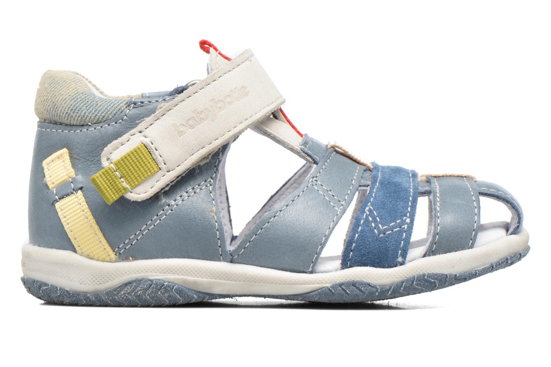 Sandales et nu-pieds Babybotte Typo3 Bleu vue derrière