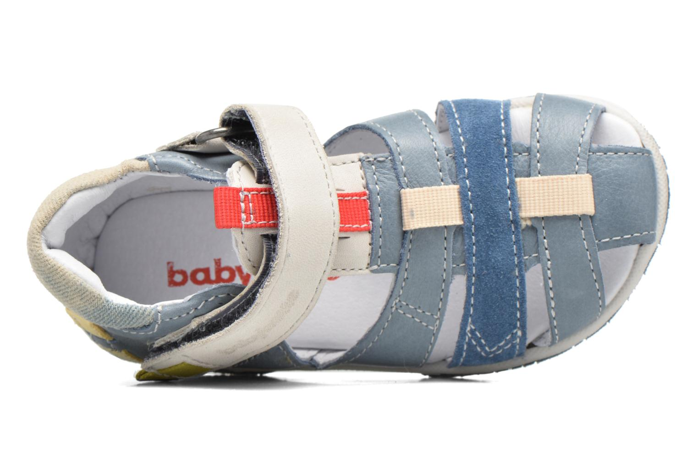 Sandales et nu-pieds Babybotte Typo3 Bleu vue gauche