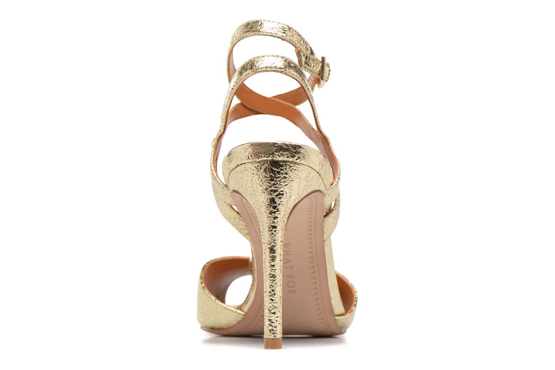 Sandales et nu-pieds What For Milky Way Or et bronze vue droite