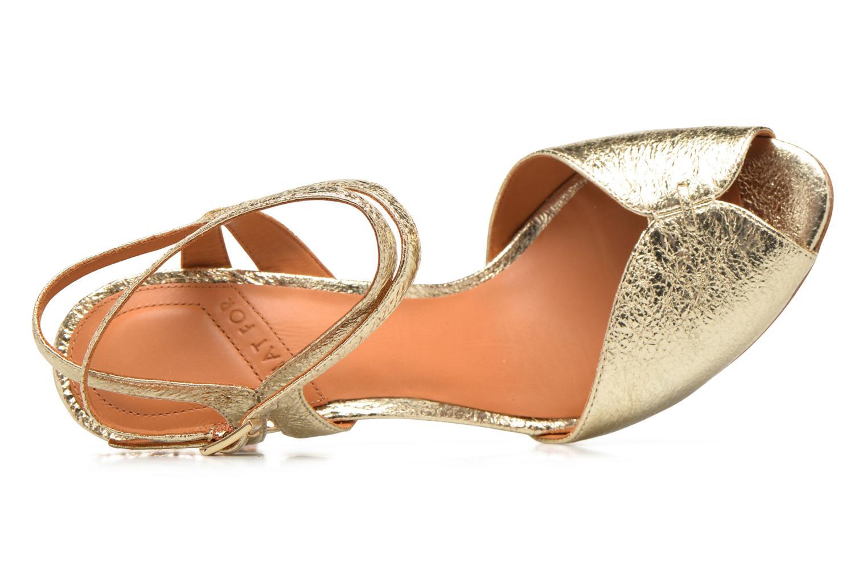 Sandales et nu-pieds What For Milky Way Or et bronze vue gauche