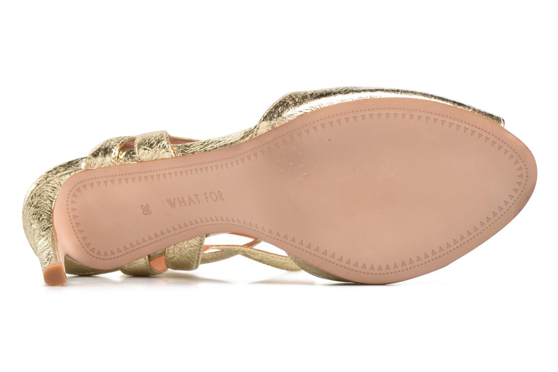 Sandales et nu-pieds What For Milky Way Or et bronze vue haut