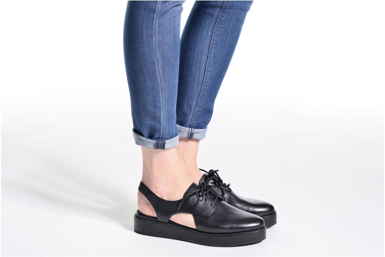 Chaussures à lacets What For Jupiter Noir vue bas / vue portée sac