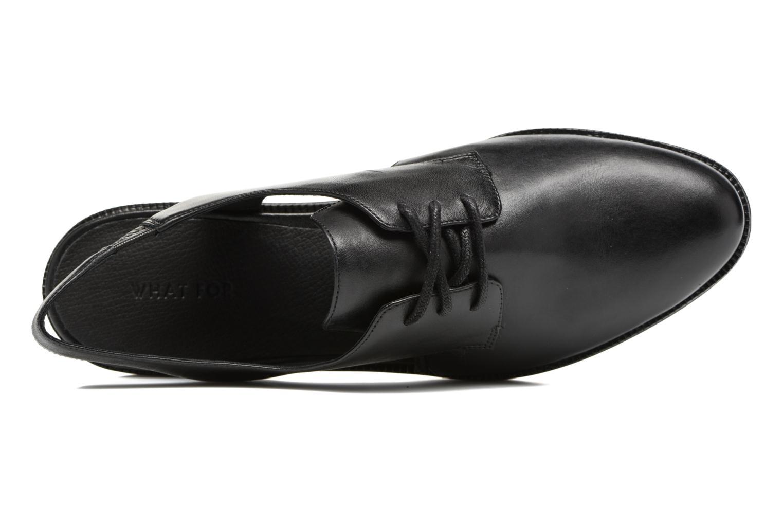 Chaussures à lacets What For Jupiter Noir vue gauche