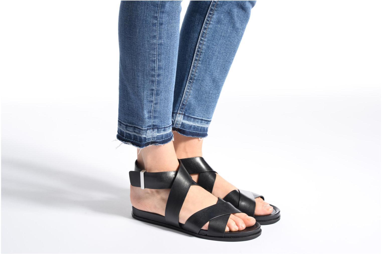 Sandales et nu-pieds What For Epsilon Noir vue bas / vue portée sac