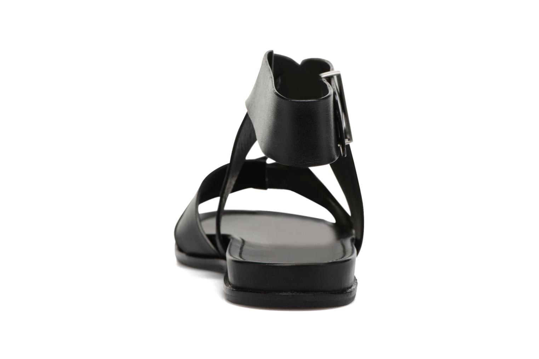 Sandales et nu-pieds What For Epsilon Noir vue droite