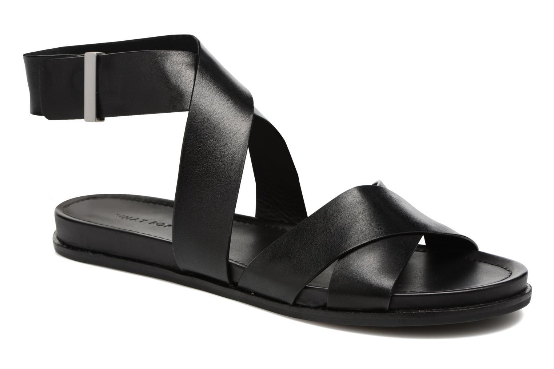 Sandales et nu-pieds What For Epsilon Noir vue détail/paire