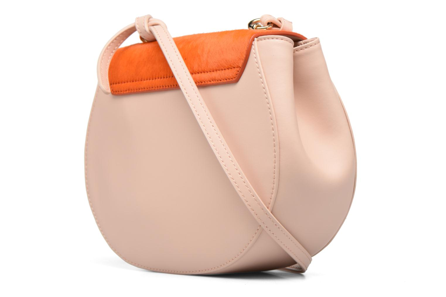 Sacs à main Guess MAELLE Leather Crossbody flap Rose vue droite