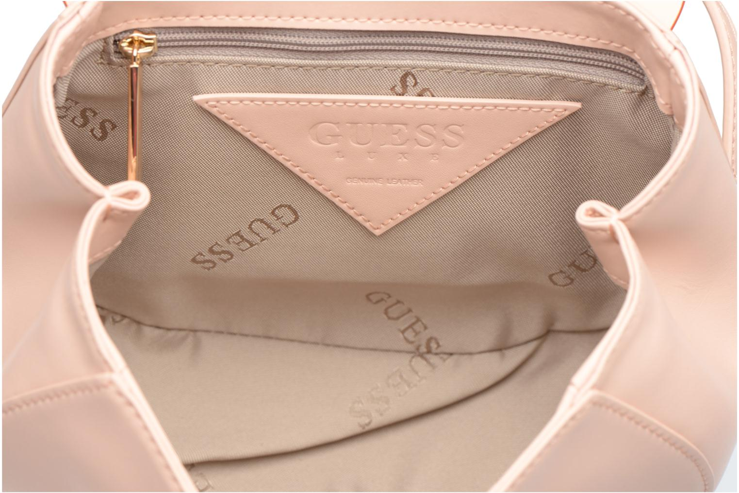 Sacs à main Guess MAELLE Leather Crossbody flap Rose vue derrière