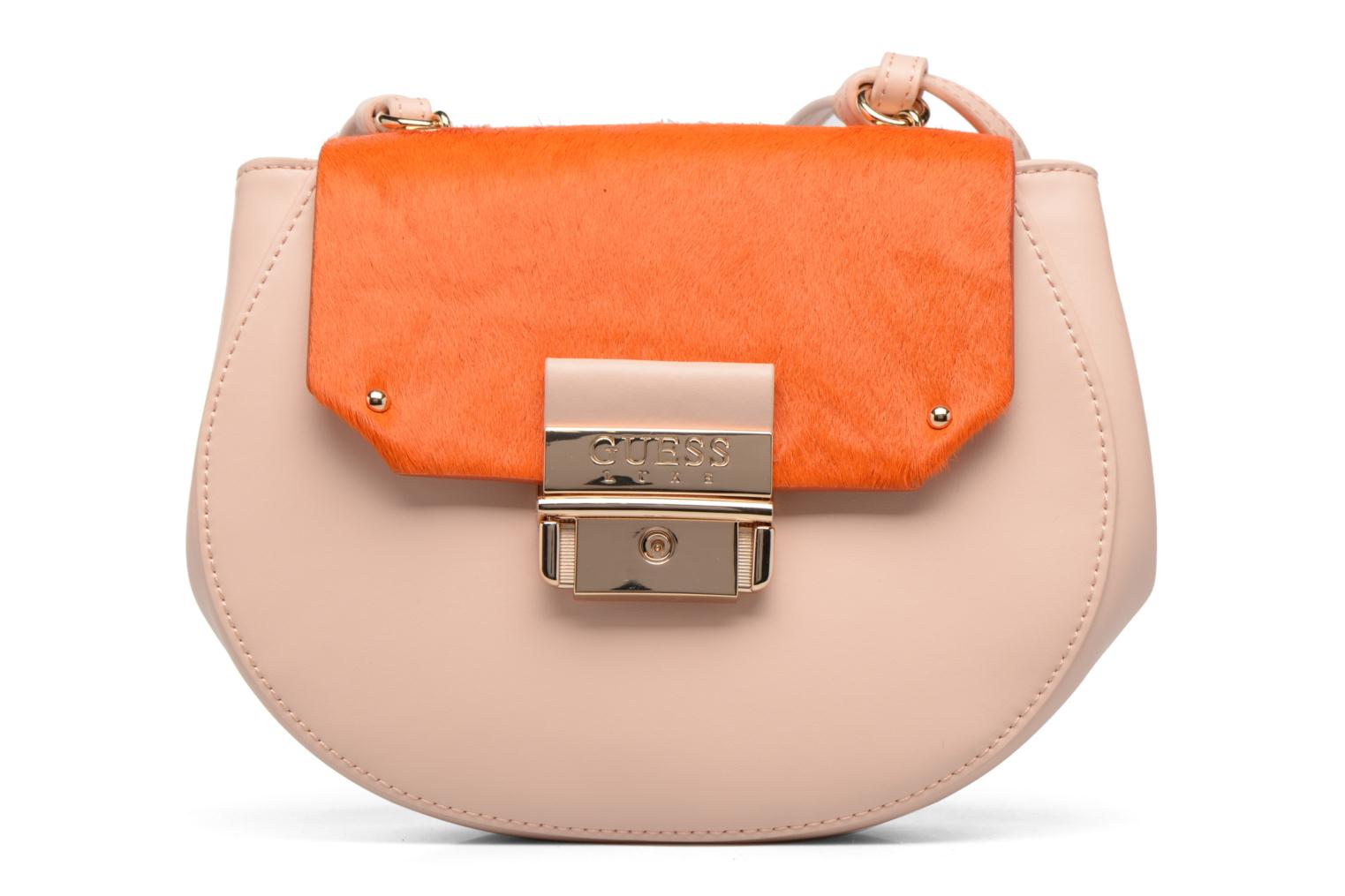 MAELLE Leather Crossbody flap Rose Multi