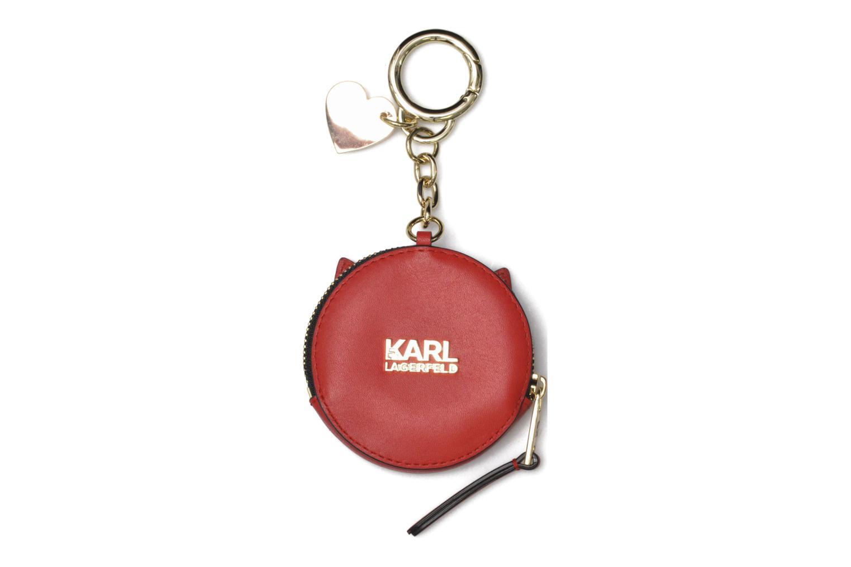 Divers Karl Lagerfeld Valentine purse Rouge vue portées chaussures