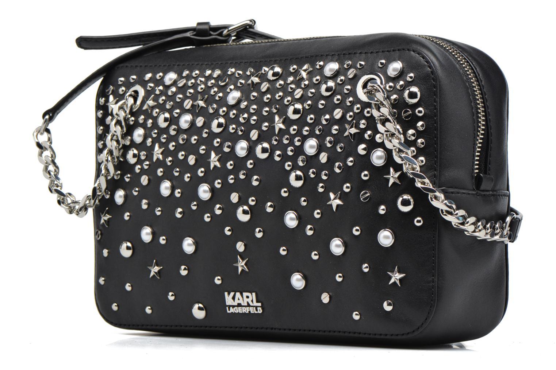 Sacs à main Karl Lagerfeld Rocky studs Shoulderbag Noir vue portées chaussures