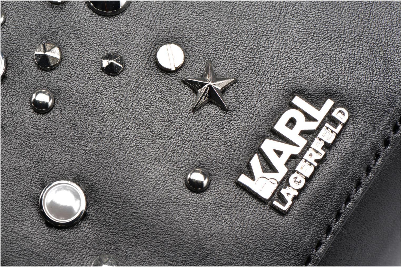Sacs à main Karl Lagerfeld Rocky studs Shoulderbag Noir vue gauche
