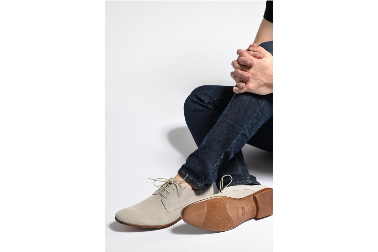 Lace-up shoes Marvin&co Nordrich Blue view from underneath / model view