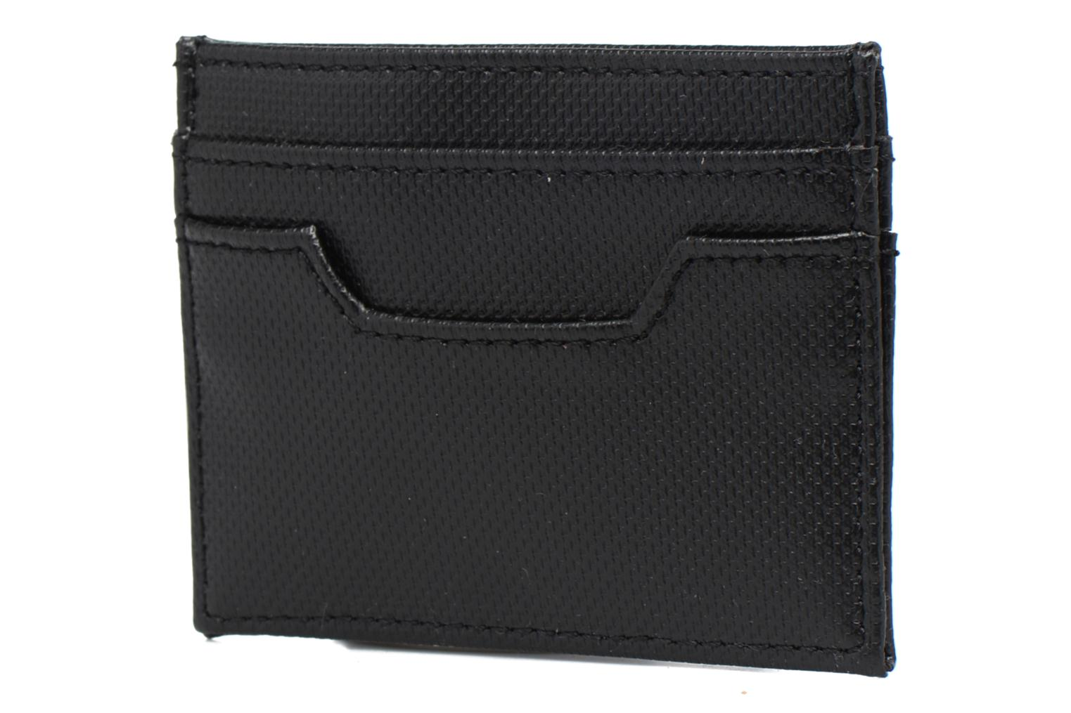 PIQUE TEXTURE CARD HOLDER Black