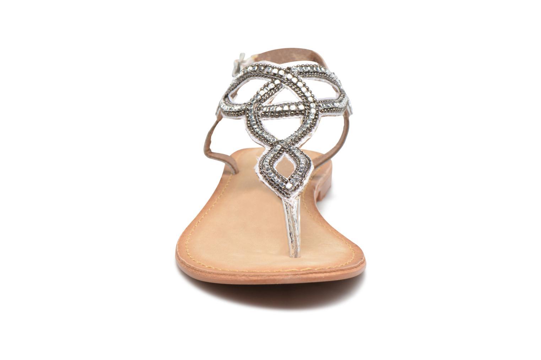 Sandales et nu-pieds Vero Moda Sis Leather sandal Argent vue portées chaussures