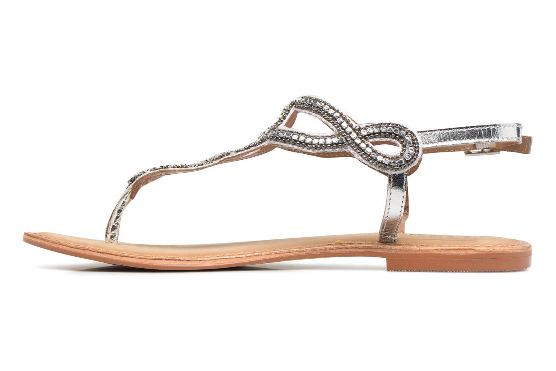 Sandales et nu-pieds Vero Moda Sis Leather sandal Argent vue face