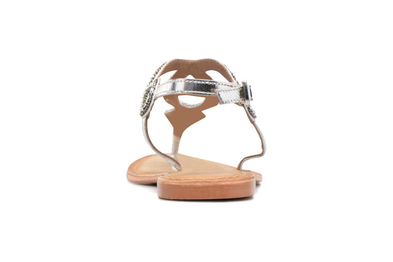 Sandales et nu-pieds Vero Moda Sis Leather sandal Argent vue droite