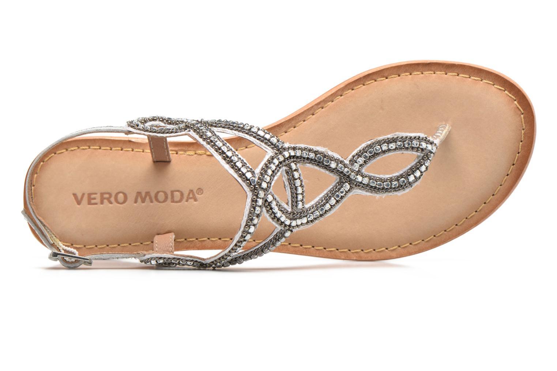 Sandales et nu-pieds Vero Moda Sis Leather sandal Argent vue gauche