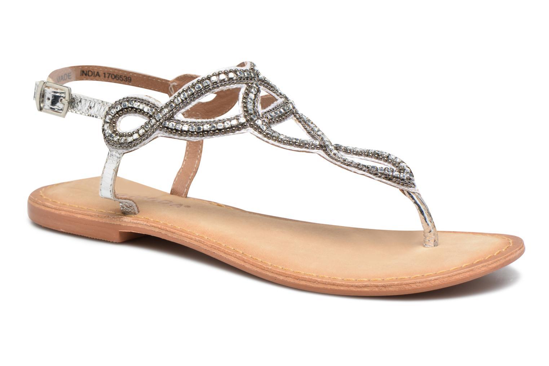 Sandales et nu-pieds Vero Moda Sis Leather sandal Argent vue détail/paire