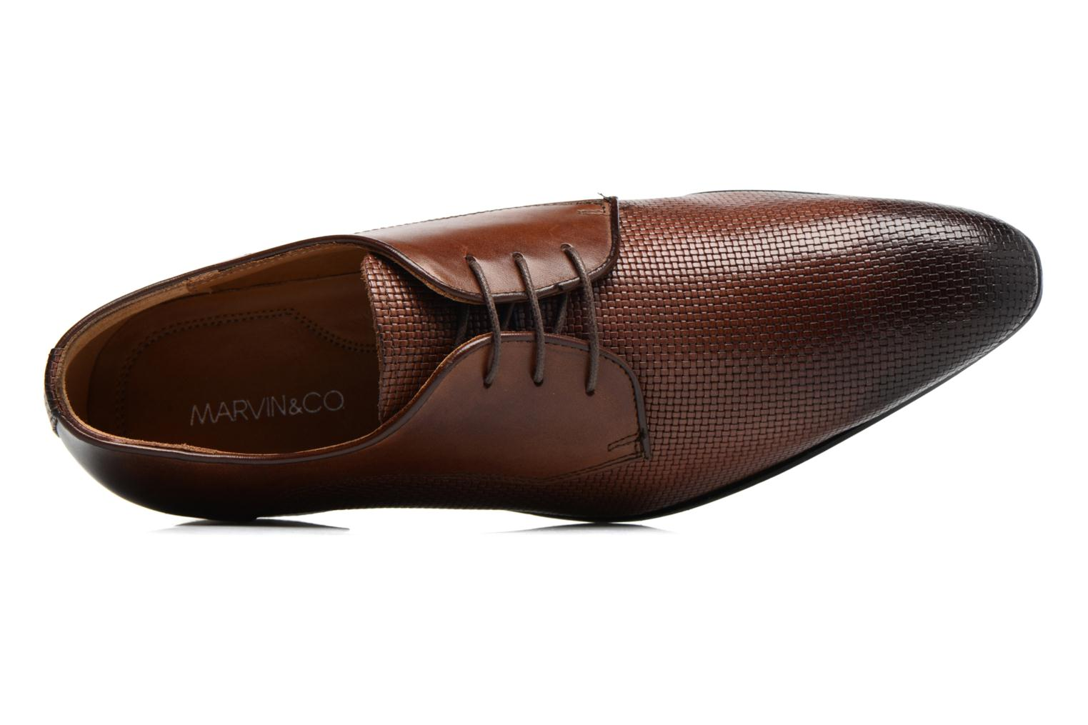 Chaussures à lacets Marvin&Co Narbroath Marron vue gauche