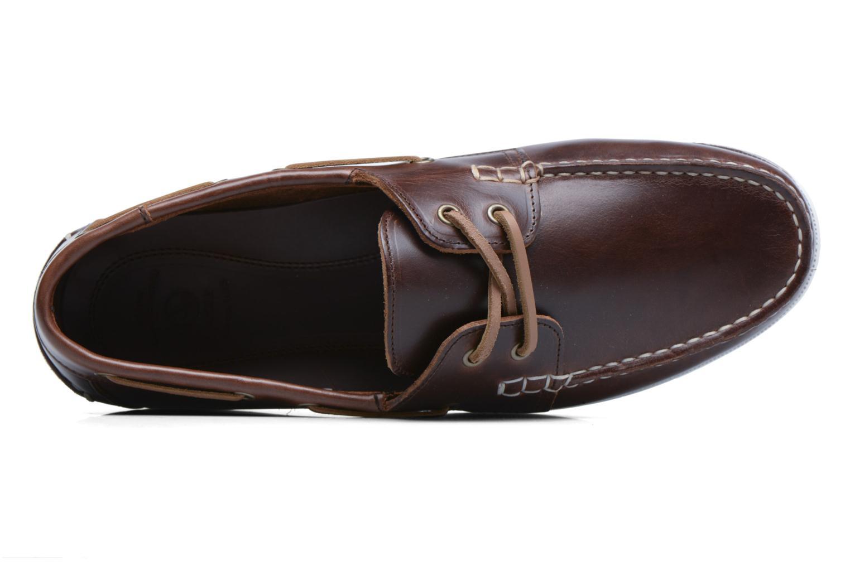 Chaussures à lacets Aigle Havsea Marron vue gauche