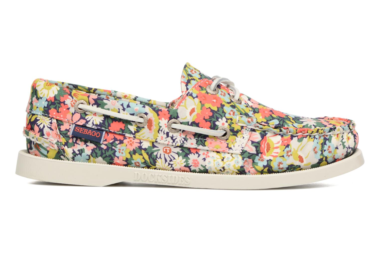 Lace-up shoes Sebago Docksides Liberty Multicolor back view