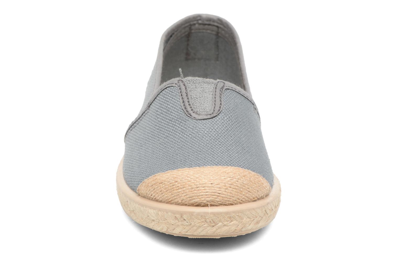 Espadrilles Cienta Pablo Gris vue portées chaussures