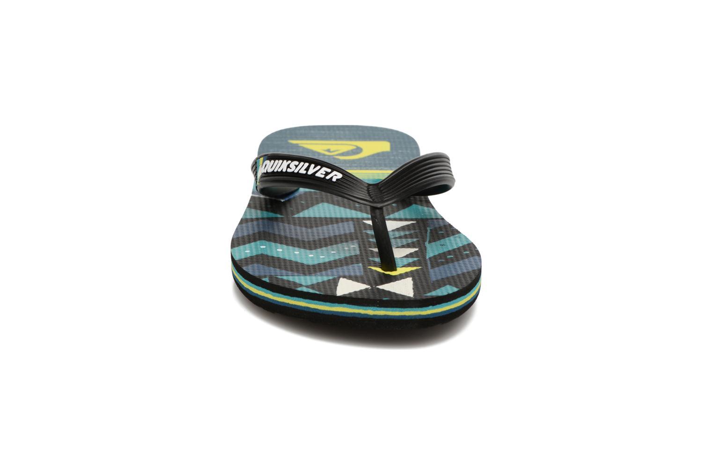 Tongs Quiksilver Molosla B Vert vue portées chaussures