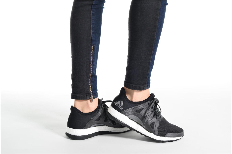 Chaussures de sport Adidas Performance PureBOOST Xpose Orange vue bas / vue portée sac