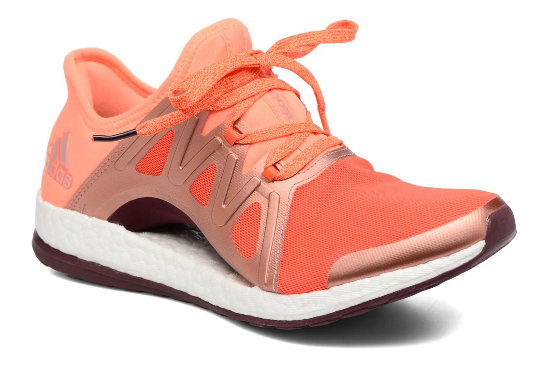 Chaussures de sport Adidas Performance PureBOOST Xpose Orange vue détail/paire