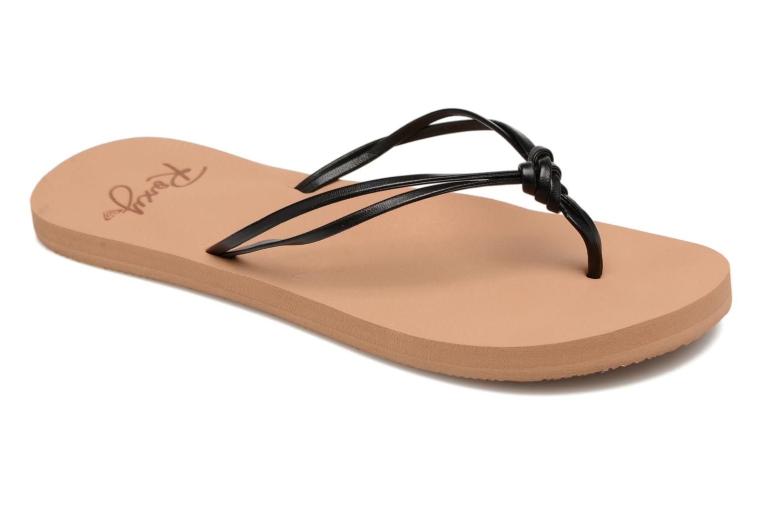 Flip flops Roxy Rg Lahaina Black detailed view/ Pair view