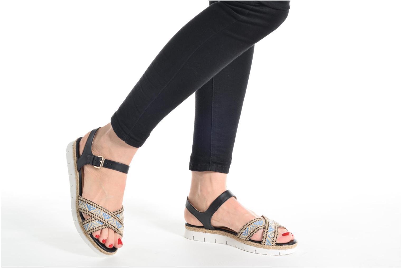 Sandales et nu-pieds Pare Gabia Paulti Multicolore vue bas / vue portée sac