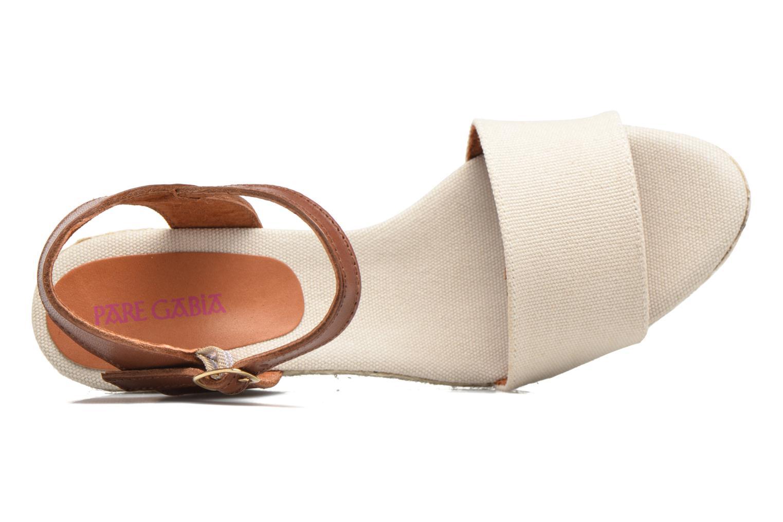Sandales et nu-pieds Pare Gabia Marina Beige vue gauche