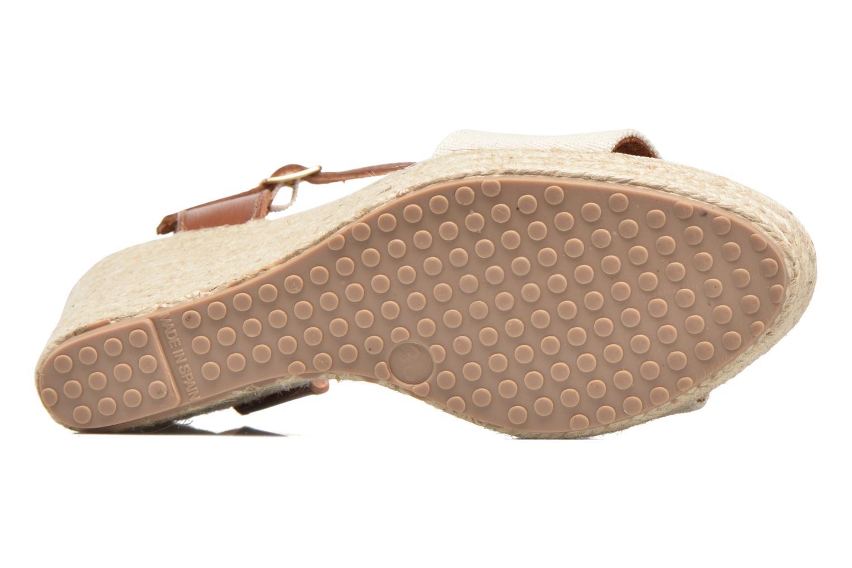 Sandales et nu-pieds Pare Gabia Marina Beige vue haut