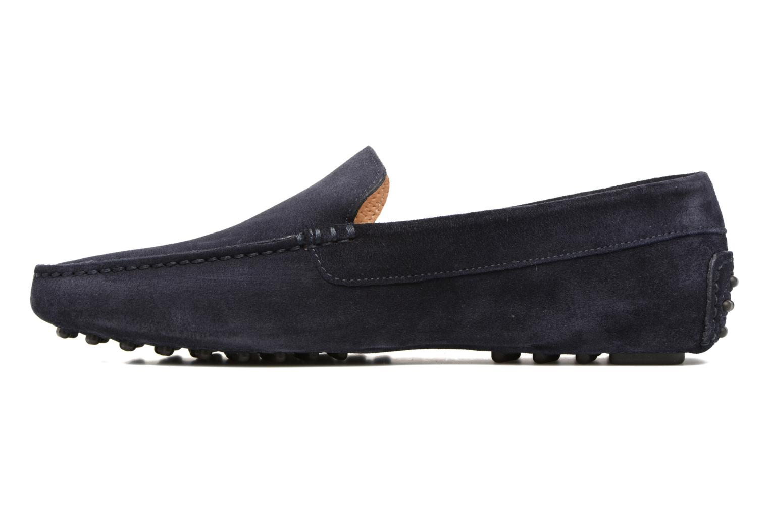 Mocassins Santoni Wellington 14336 Bleu vue face