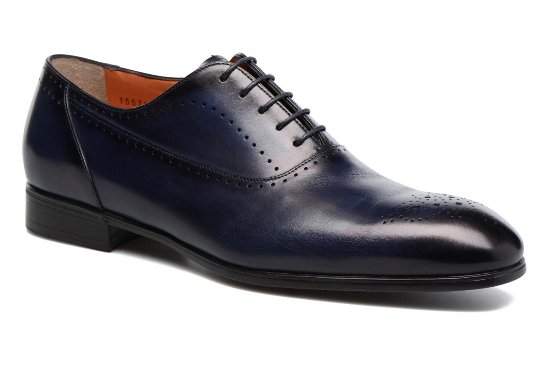 Chaussures à lacets Santoni Simon 15576 Bleu vue détail/paire