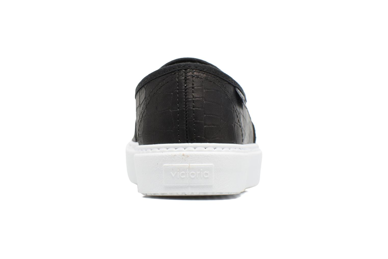 Baskets Victoria Slip On Lino Detalle Marron Noir vue droite