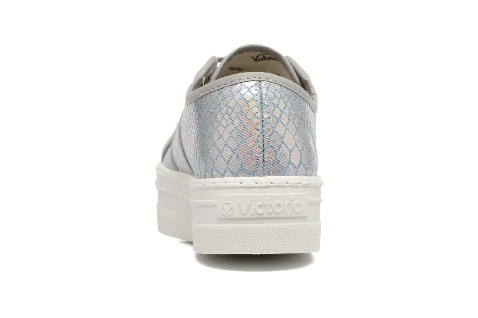 Trainers Victoria Basket Tejano Metalizado Silver view from the right