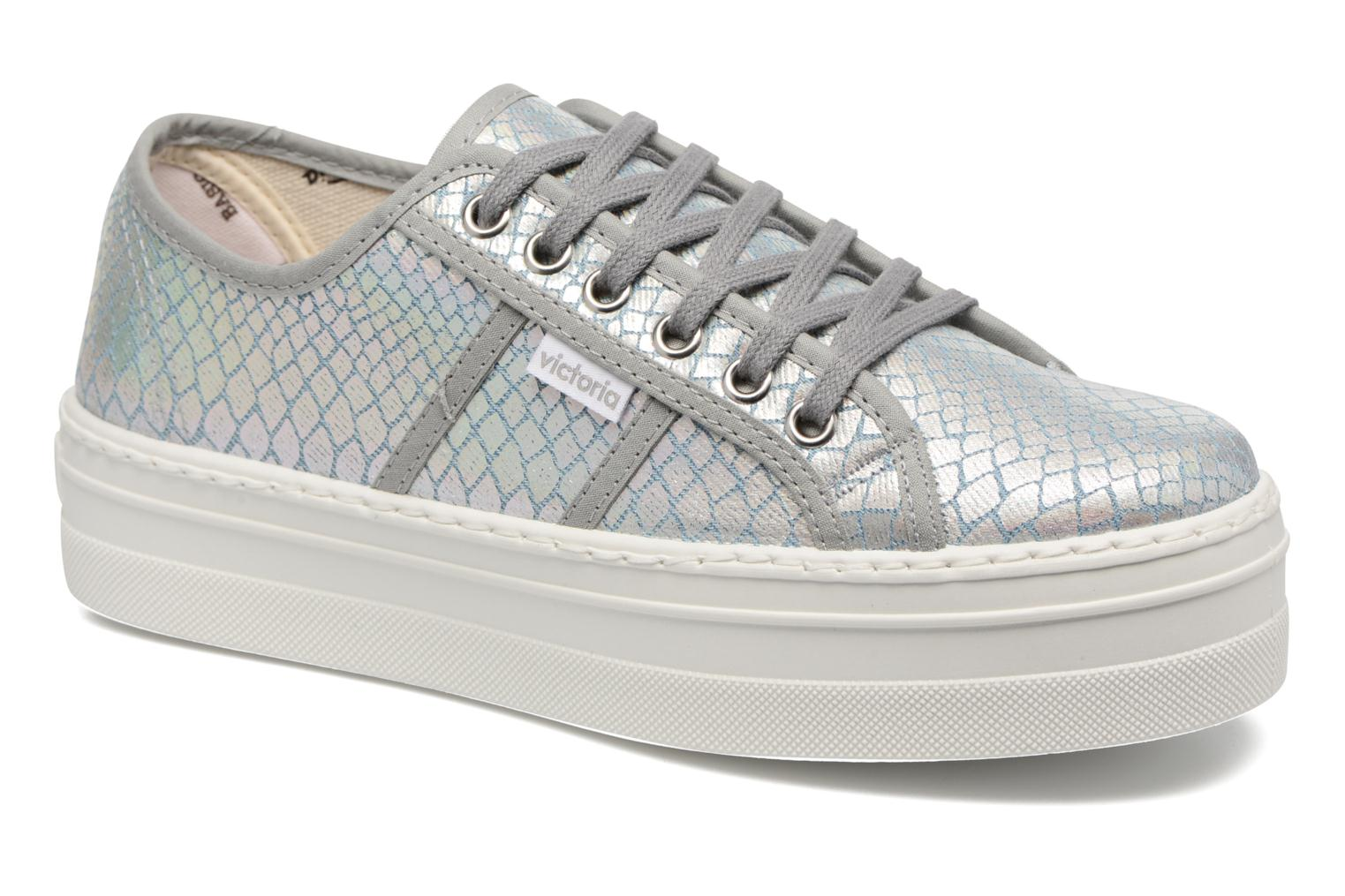 Trainers Victoria Basket Tejano Metalizado Silver detailed view/ Pair view