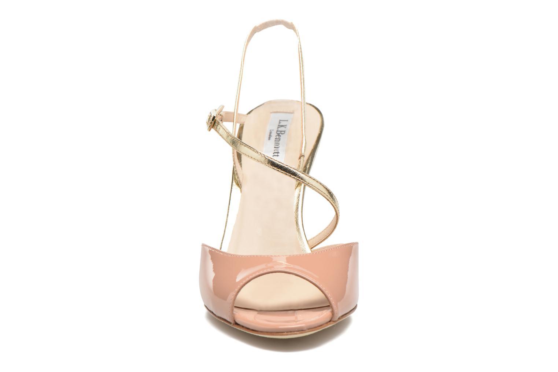 Sandales et nu-pieds L.K. Bennett Camilla Marron vue portées chaussures